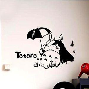 Totoro cartoon sticker verwijderbare muurstickers kinderen slaapkamer decor cadeau voor childern op 6 in van muurstickers op AliExpress.com | Alibaba Groep