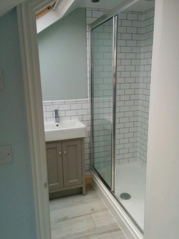 Loft Bathrooms Painting Small Loft Conversion Bathroom Shower Room In Se London Wall Paint .