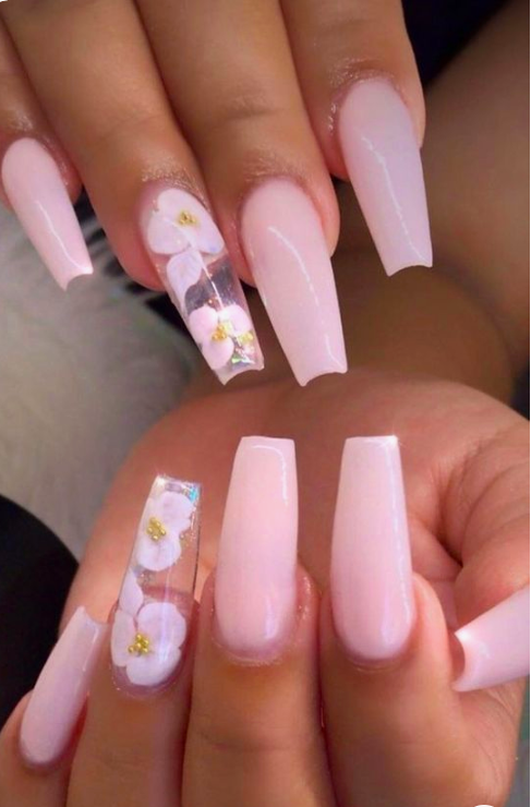 Medium Acrylic Nails Designs : medium, acrylic, nails, designs, Glittering, Acrylic, Nails, Medium-Length, First-Hand, Fashion, Females, Designs,, Design, Inspiration,, Coffin, Designs