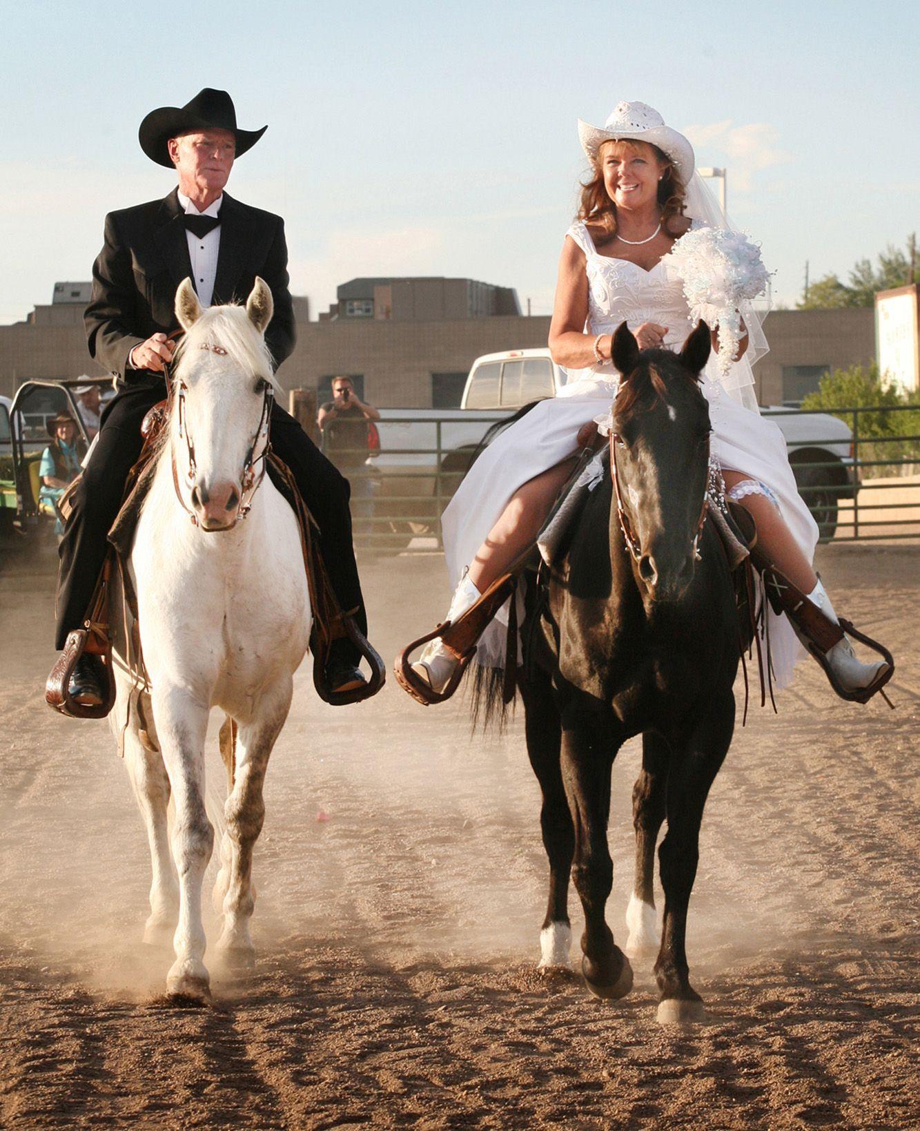 Cowboy Weddings Ideas: Cowboy Wedding In Colorado. >>Except I Would Ride Side