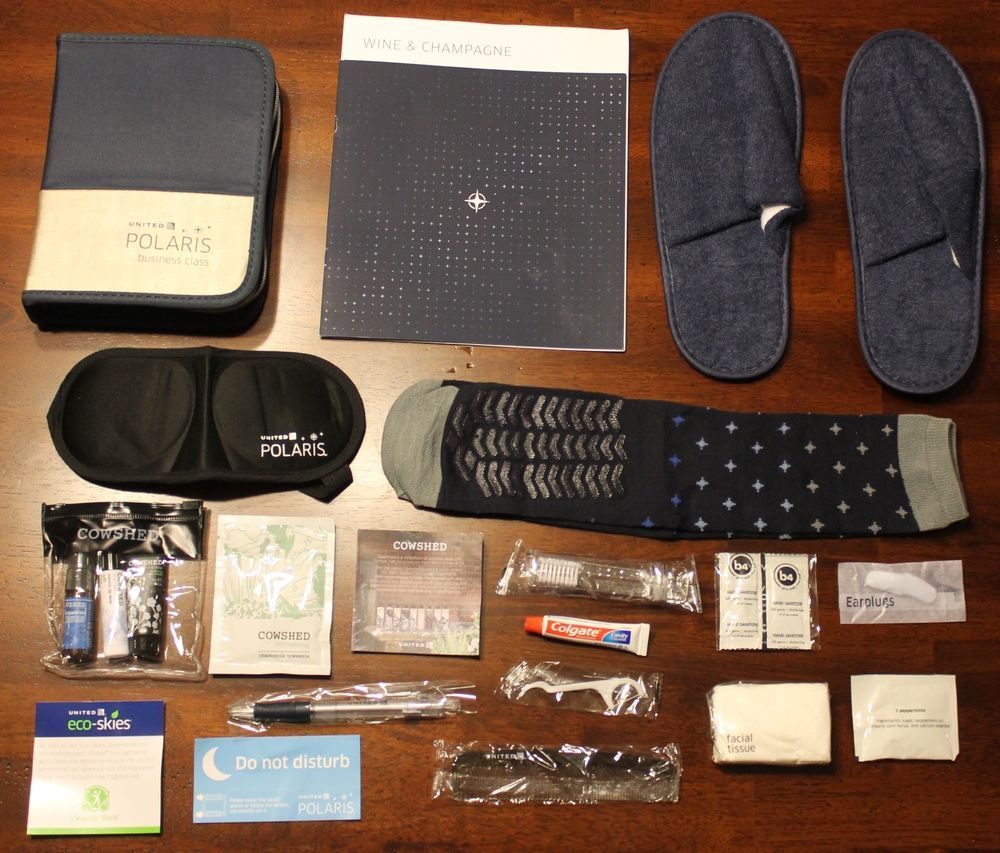 Just Released United Airlines Polaris Business Class Amenity Kit