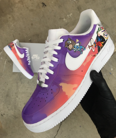 Kanye West S Graduation Album Nike Air Force 1 S Nike Shoes Air Force Custom Nike Shoes Nike