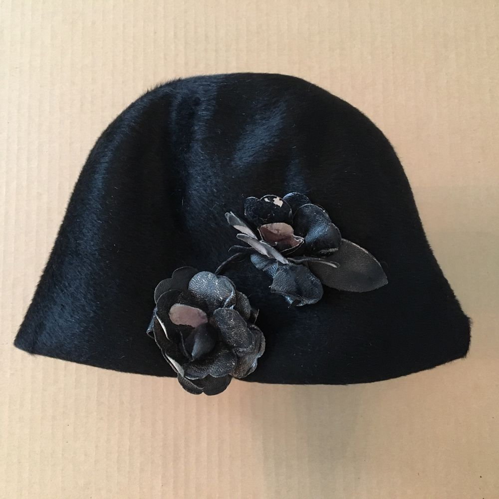 7995ee22b07 Christian Dior Chapeaux Paris NY Made in Italy Vintage Hat Black  fashion   clothing