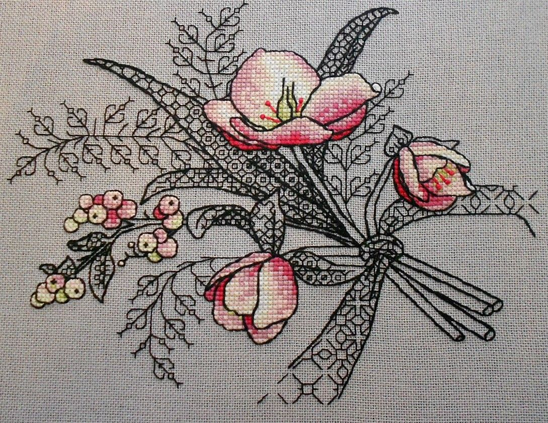 Blackwork nakış pinterest blackwork embroidery and cross stitch