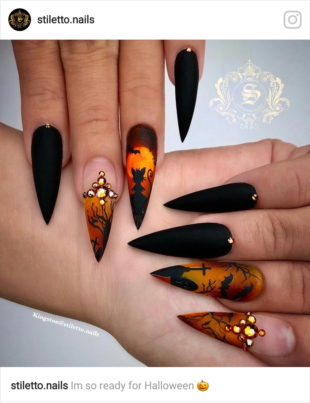 Pinterest Kiania Halloween Nail Designs Horror Nails Stiletto Nail Art