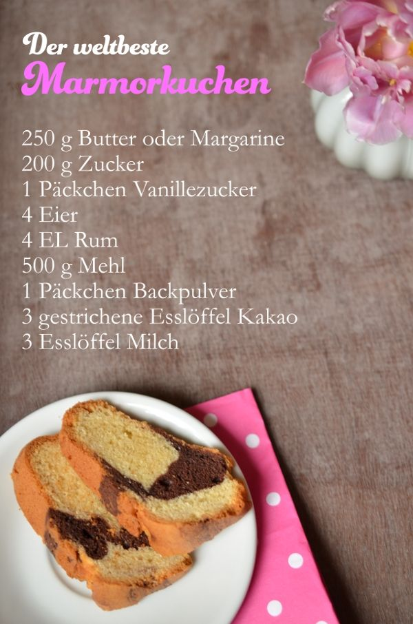 Post Aus Meiner Kuche Kindheitserinnerungen Der Beste Marmorkuchen Der Welt Marmorkuchen Schokolade Kuchen Rezepte