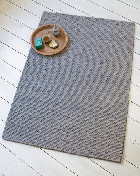teppich strickoptik grau 140 x 200 cm 9 71 kg wishes pinterest gestrickter teppich. Black Bedroom Furniture Sets. Home Design Ideas