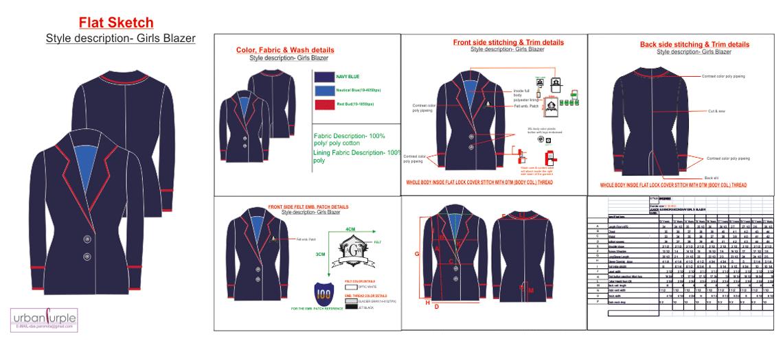 Clothing Tech Pack Designer   Garment Manufacturer: Tech Pack Design ...