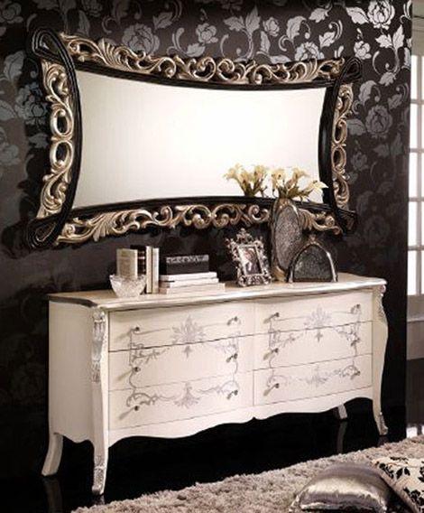 espejos vintage espejos decorativos cmoda blanca madera interiores muebles entrada comedor