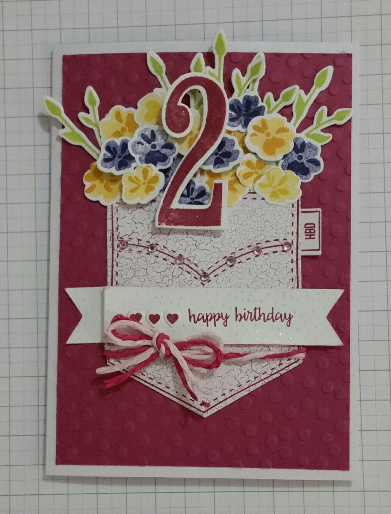 Birthday card using stampinup pocketful of sunshine jars of love birthday card using stampinup pocketful of sunshine jars of love and number of days m4hsunfo