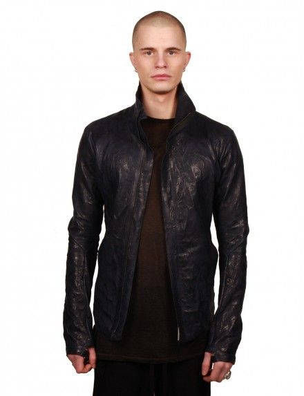 Crumpled Leather Jacket - Isaac Sellam Experience - Man - Designers - serie ||| NOIRE