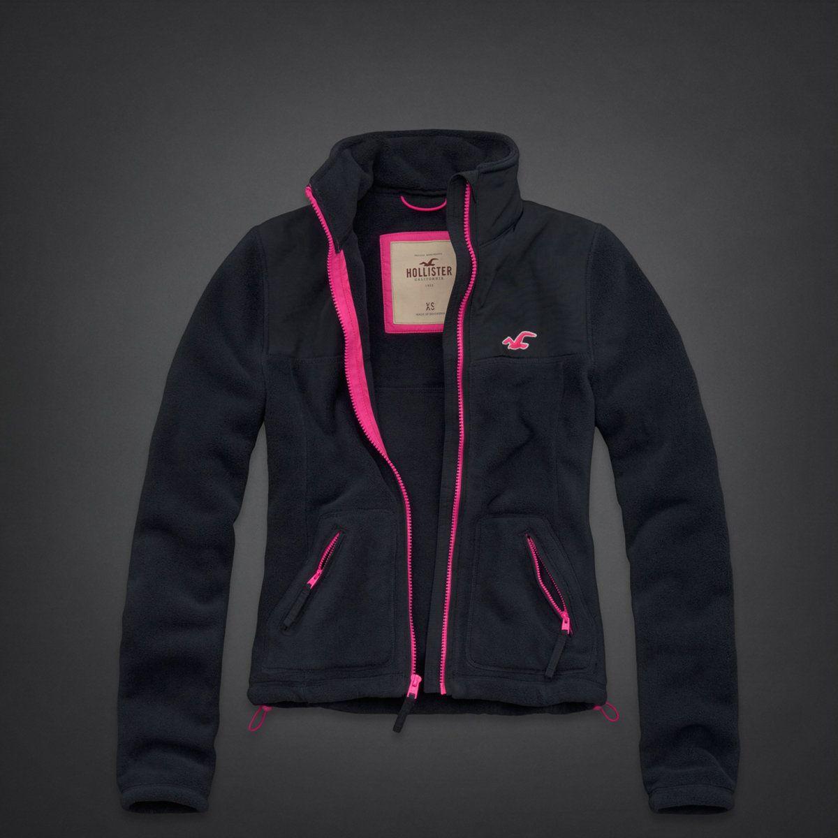 hollister fleece jacket