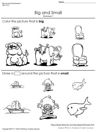 Big And Small Worksheets 1 And 2 Opposites Worksheet Preschool Worksheets Kids Math Worksheets
