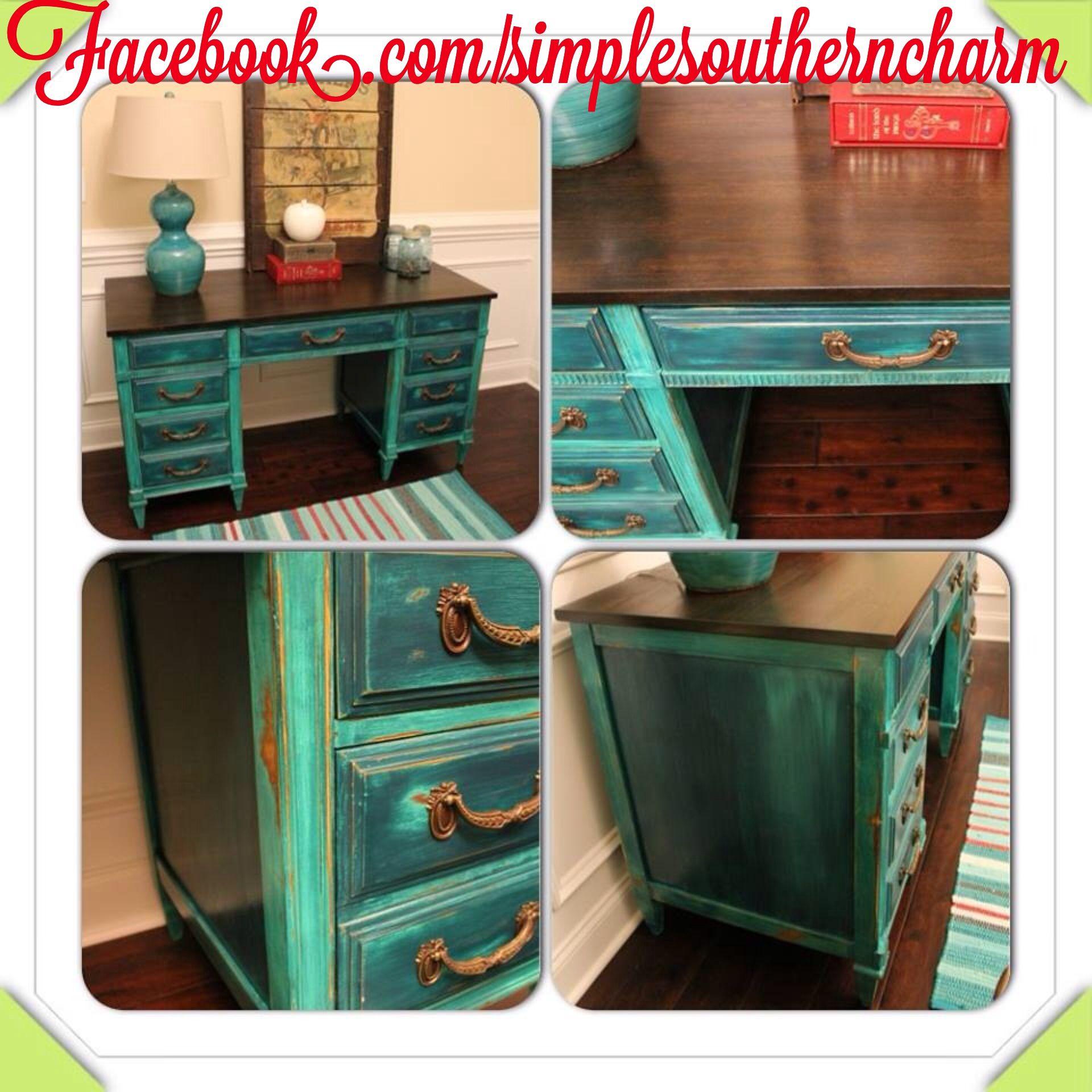 Vintage Desk Makeover Diy