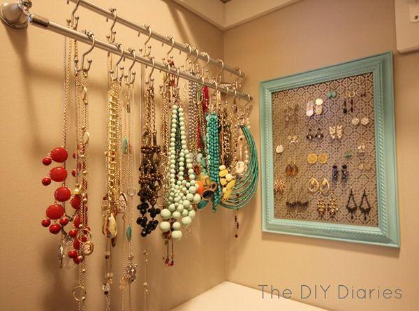 Pinterest Jewelry Corner Jewelry Storage Diy Diy Decor