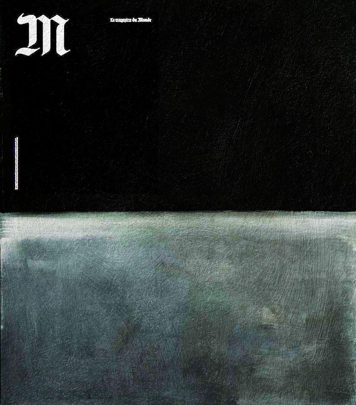 Death is BlackCharlie Hebdo shooting, M le magazine du journal Le Monde January 2015 + Untitled (Black on Grey) by Mark Rothko