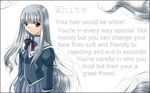 White Anime Hair Color Meaning