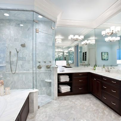 L Shaped Master Bathroom Remodel L Shaped Bathroom Modern
