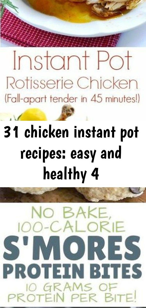 31 chicken instant pot recipes: easy and healthy 4 ...