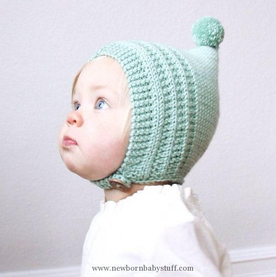 Baby Knitting Patterns KNITTING PATTERN PDF File - Knit Pixie Bonnet Pattern  - Baby. 1fa2bd5e256