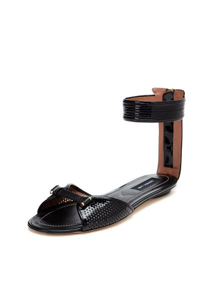 Derek Lam Buckle Accented Leather Sandals cheap clearance store pictures Xs2NqB