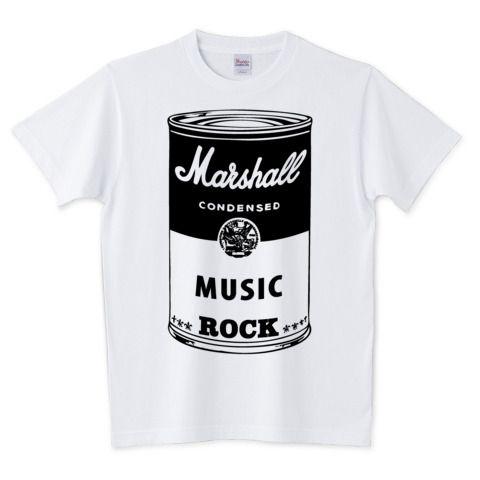 Marshall Soup Cans /ROCK・ロック・スープ缶・音楽・MUSIC・マーシャル・パンク・POPART・ポップアート・パロディ・絵・ウォーホール・可愛い・ロゴ・デザインTシャツ | デザインTシャツ通販 T-SHIRTS TRINITY(Tシャツトリニティ)