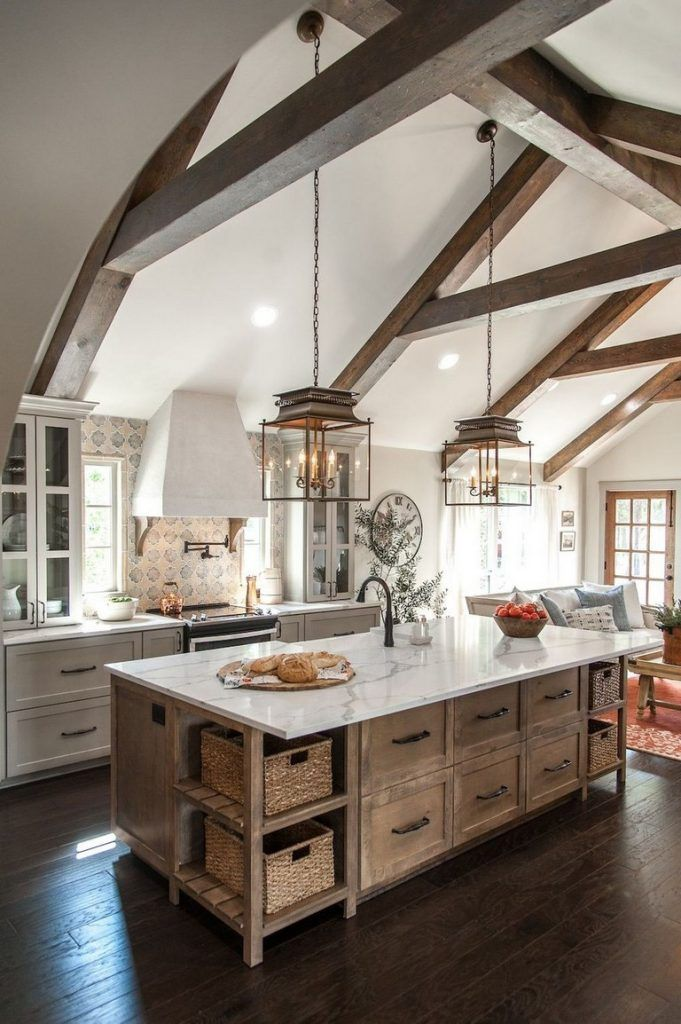31 stunning kitchen decorating ideas with farmhouse style for your ordinary home p country on kitchen decor themes rustic id=51383
