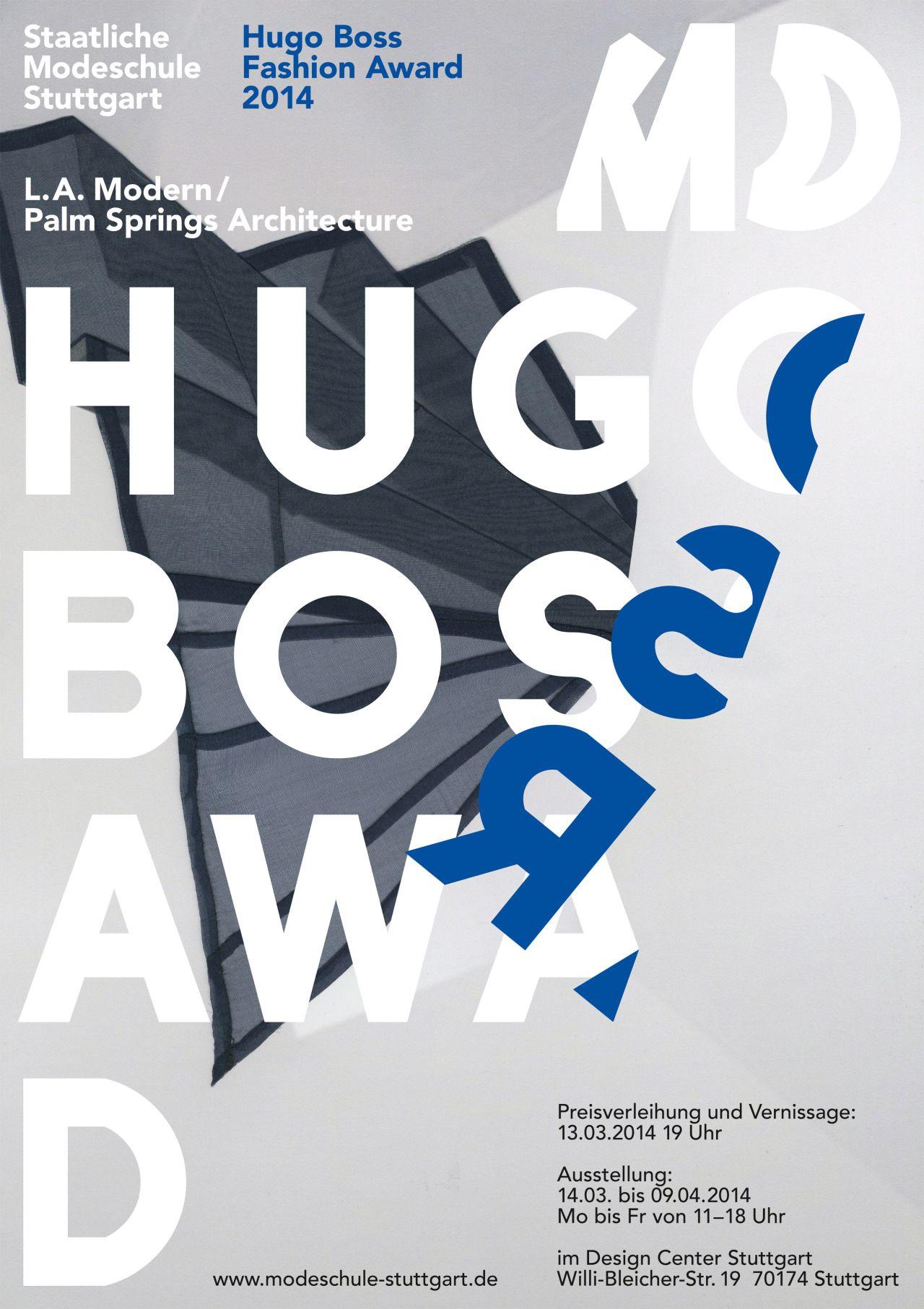 Sascha Lobe L2M3 poster for Hugo Boss and Fashion School