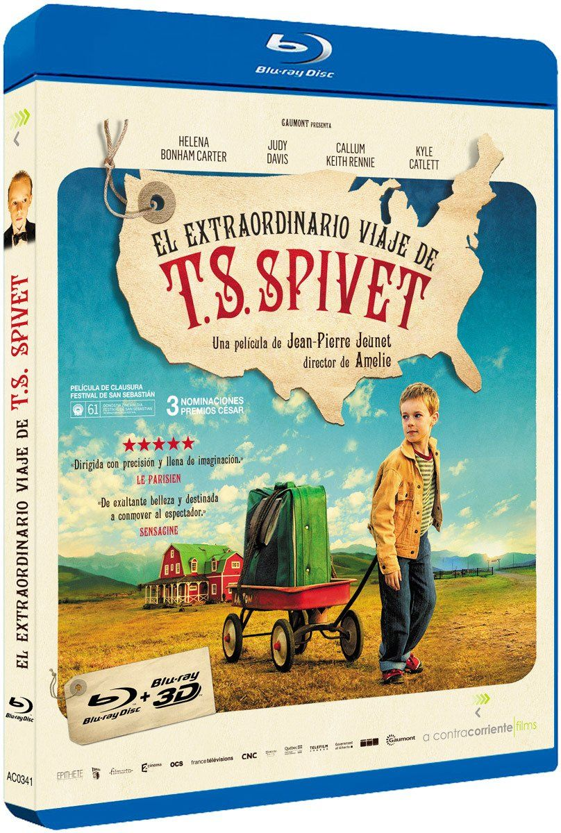 The Young and Prodigious T.S. Spivet (Region B): Amazon.co.uk: Helena Bonham Carter, Judy Davis, Dominique Pinon, Kyle Catlett, Callum Keith Rennie, Niamh Wilson, Jakob Davies, Rick Mercer, Julian Richings, Richard Jutras, Jean-Pierre Jeunet, Name, The Young and Prodigious T.S. Spivet (2013) ( L'extravagant voyage du jeune et prodigieux T.S. Spive, The Young and Prodigious T.S. Spivet (2013), L'extravagant voyage du jeune et prodigieux T.S. Spivet, The Young & Prodigious T.S. Spivet: DVD…