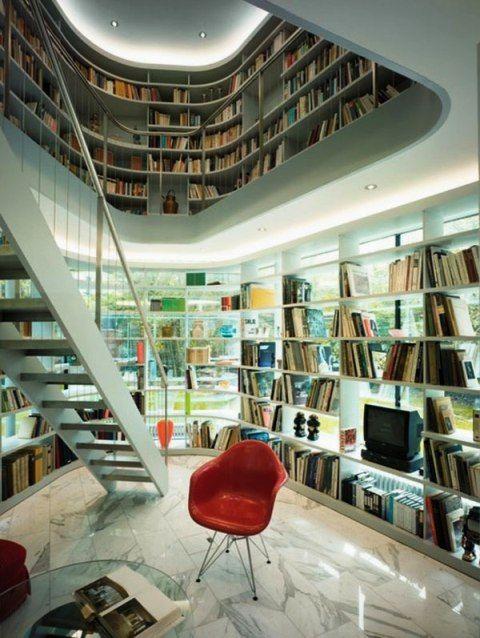 tips on creating a library in house ideas bibliotheken pinterest haus bibliothek und. Black Bedroom Furniture Sets. Home Design Ideas