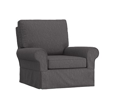 Swell Comfort Small Swivel Rocker Slub Chenille Charcoal Beatyapartments Chair Design Images Beatyapartmentscom