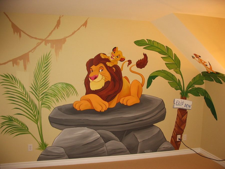 Lion king mural google search little ones pinterest for Baby jungle mural