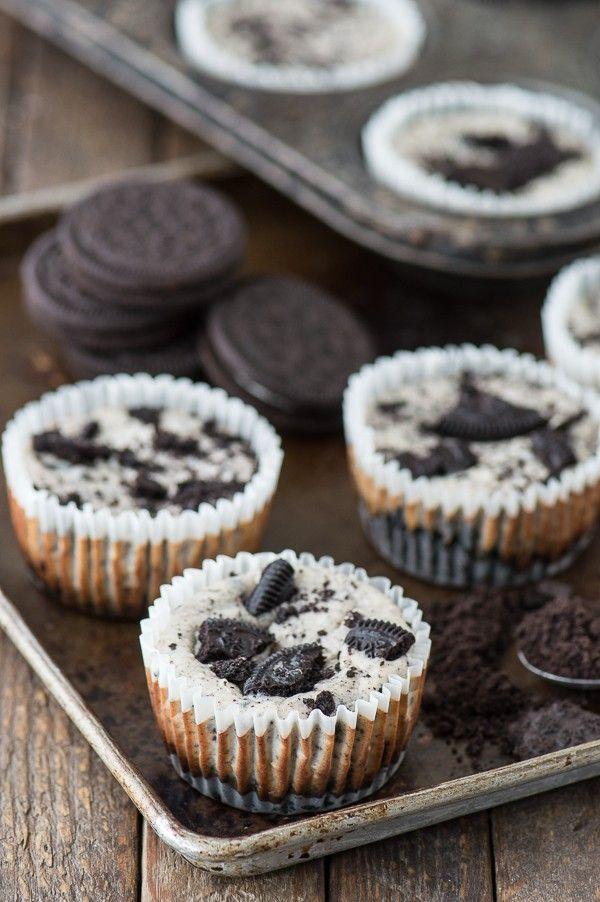 7 Ingredient Mini Oreo Cheesecake Recipe Made In A Muffin Pan