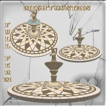 Mesh Fountain Ancient Decoration 18 impact Full perm