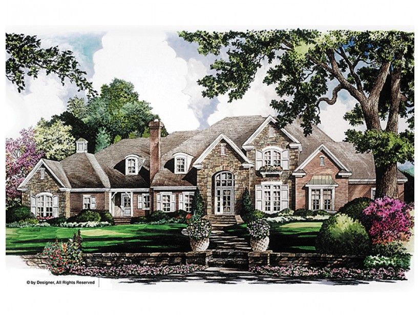 Country Style House Plan 5 Beds 3 Baths 6699 Sq Ft Plan 952 274 Country Style House Plans French Country House Plans Luxury House Plans