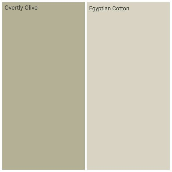 Dulux Overtly Olive And Egyptian Cotton, Kichen Family