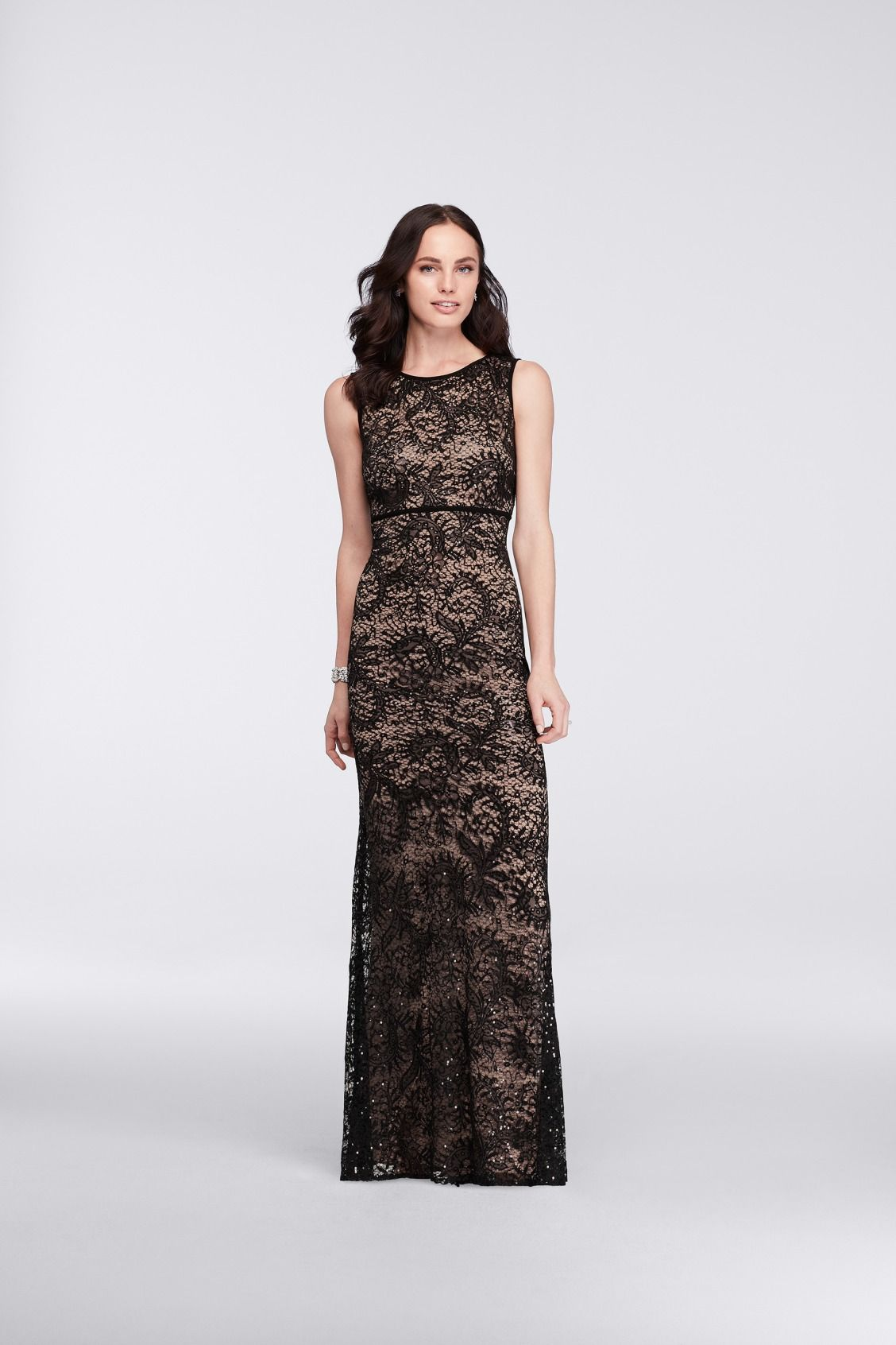 5c8953c61eb This chic black and nude mother of the bride dress features all over  sequins for some sparkle. Shop this mother of the bride dress by Nightway  at David s ...