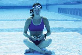 yoga under water  one of the weirdest workouts
