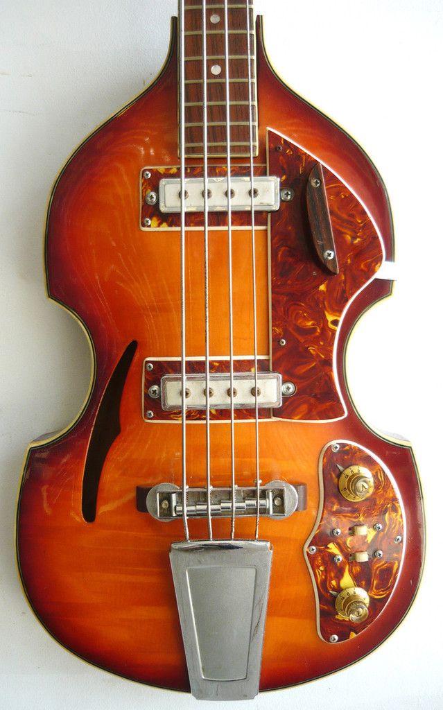 guyatone fiddle bass guitar - Google Search