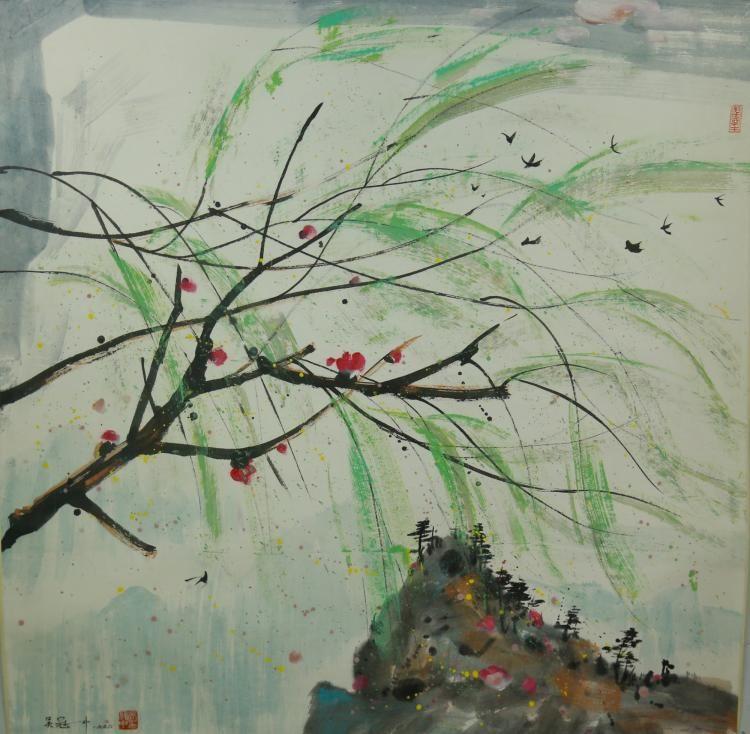 Chinese Landscape Scroll Wu Guanzhong 1919-2010