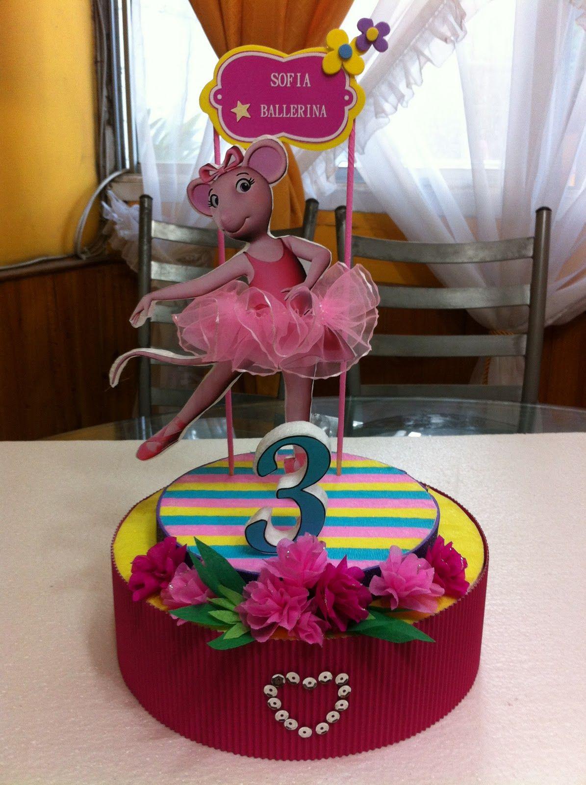 centerpiece angelina ballerina | Fiestas de cumpleaños | Pinterest ...