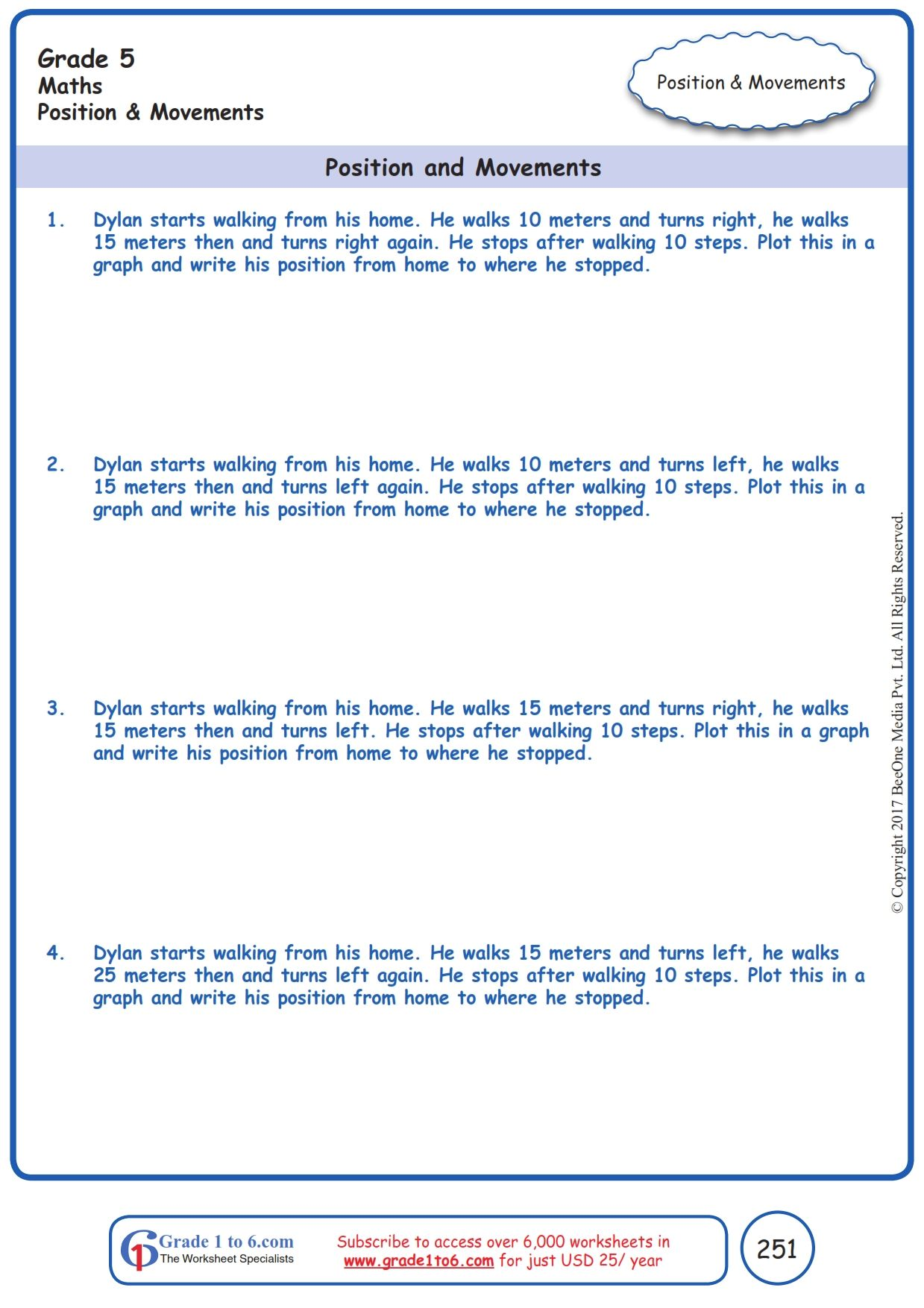Worksheet Grade 5 Math Position And Movements In 2021 Free Math Worksheets Grade 5 Math Worksheets 5th Grade Math Addition word problems for grade cbse