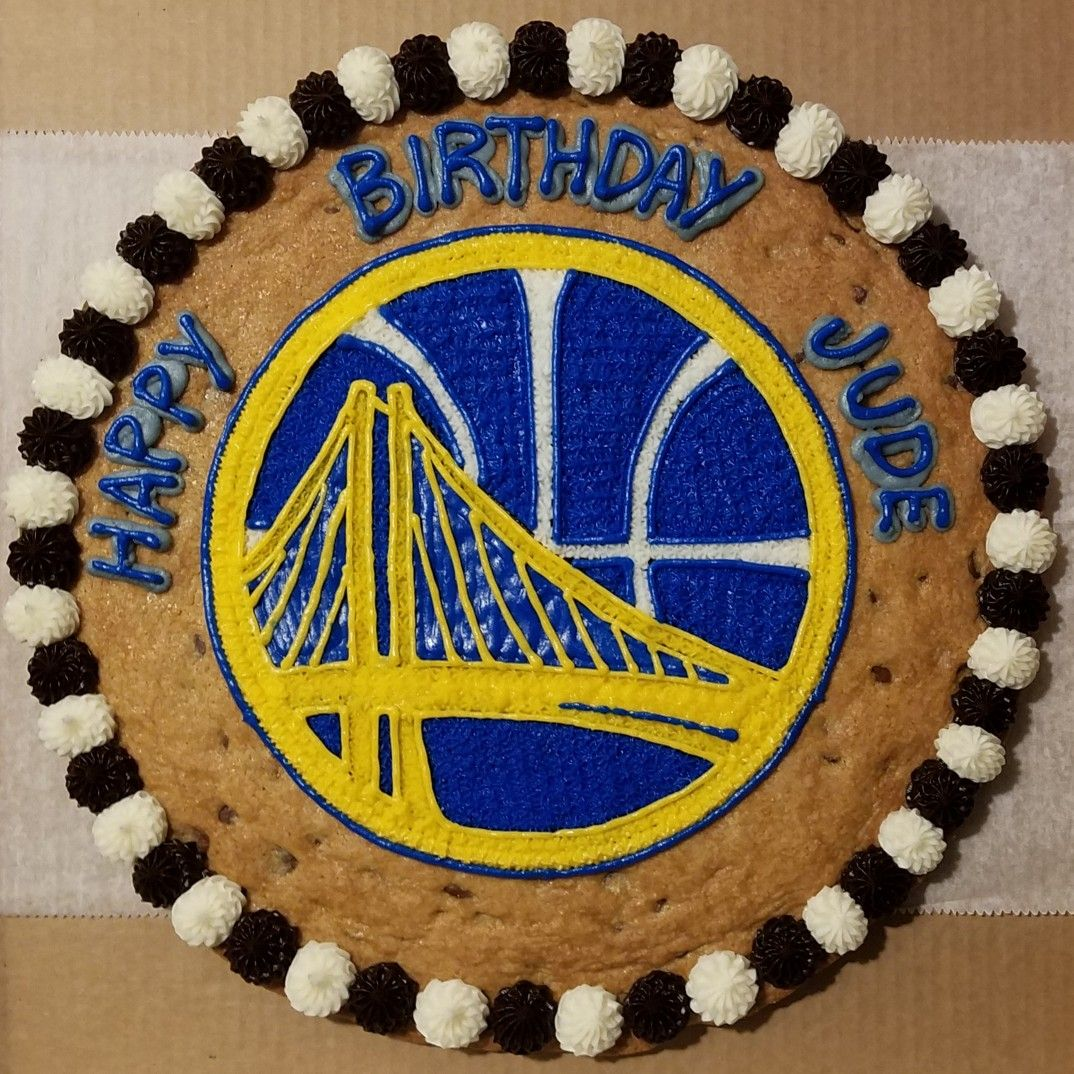 Golden State Warriors Cookie Cake In