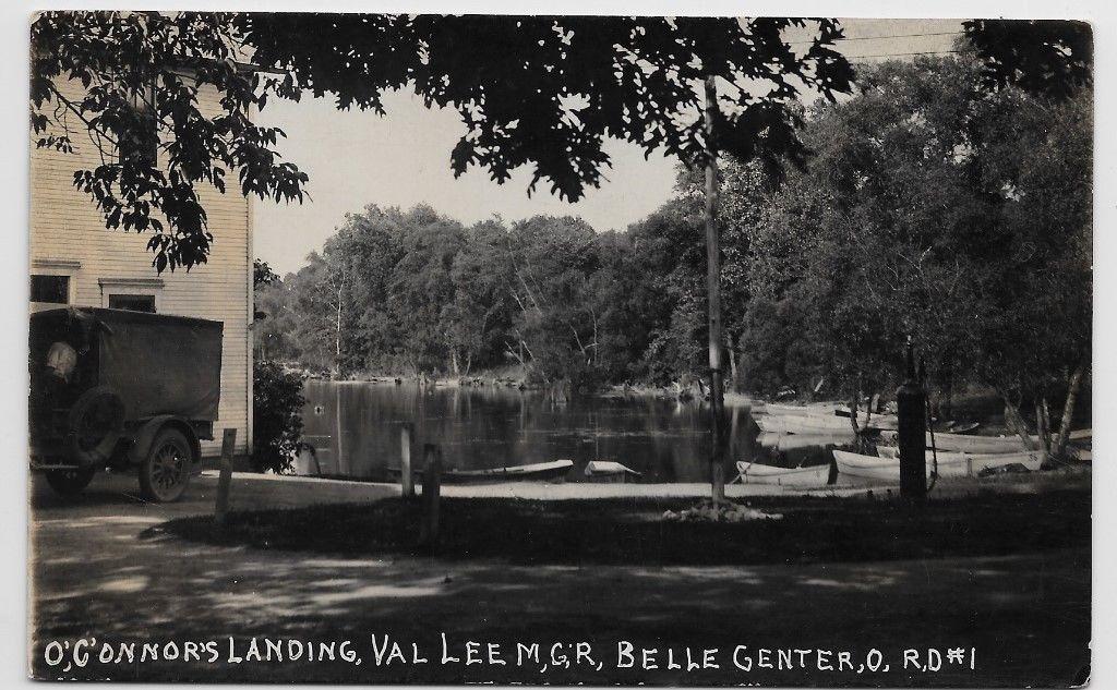 Indian Lake Ohio Belle Center O Connor S Landing C1917 Real Photo Hj76 Indian Lake Lake Lake Park