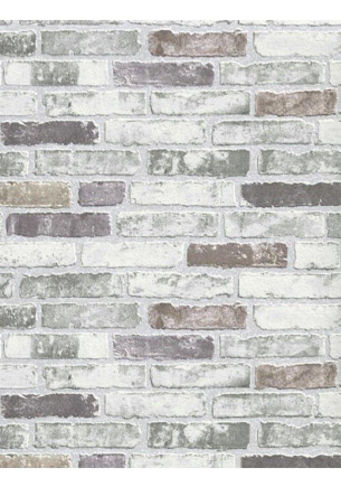 White Grey Brick Wallpaper Brick Effect Wallpaper White Brick