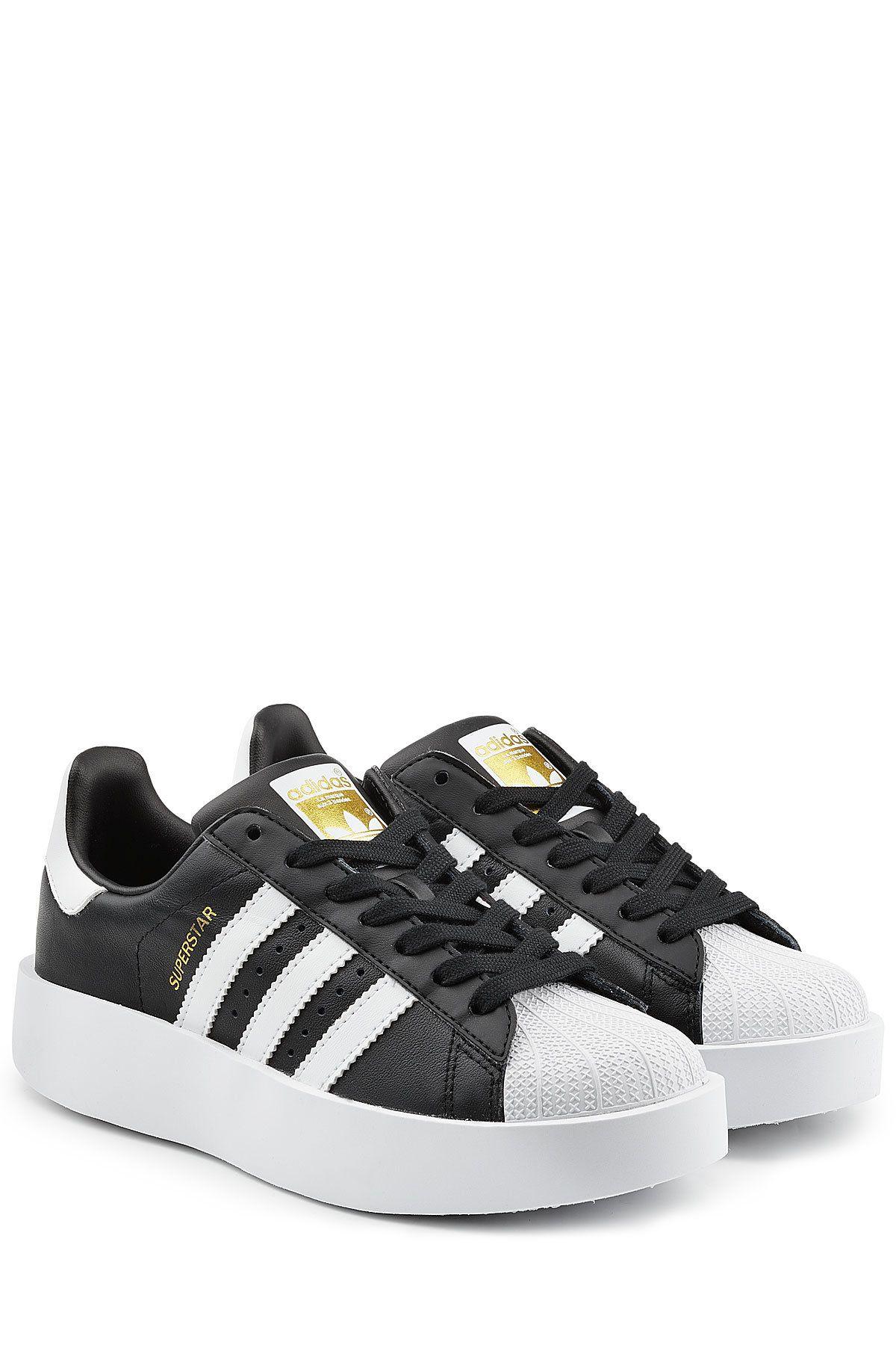 Adidas Originals Plateau Sneakers Superstar aus Leder Schoenen