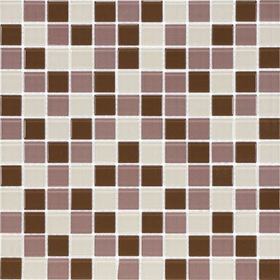 "Giorbello Cristezza Select 0.875"" x 0.875"" Glass Mosaic Tile in Wine Country"