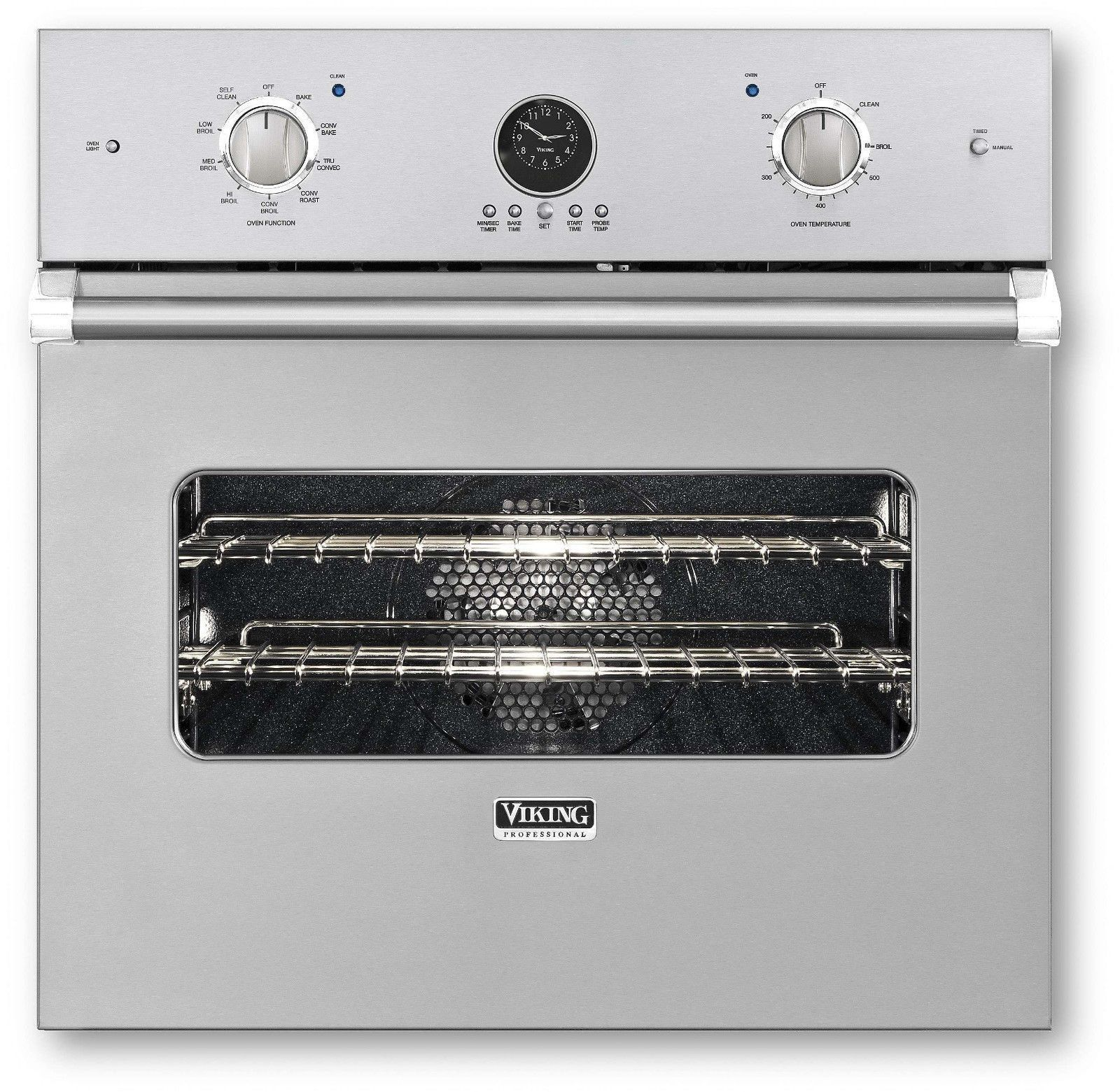 front view viking toaster steel oven stainless in microwave countertop