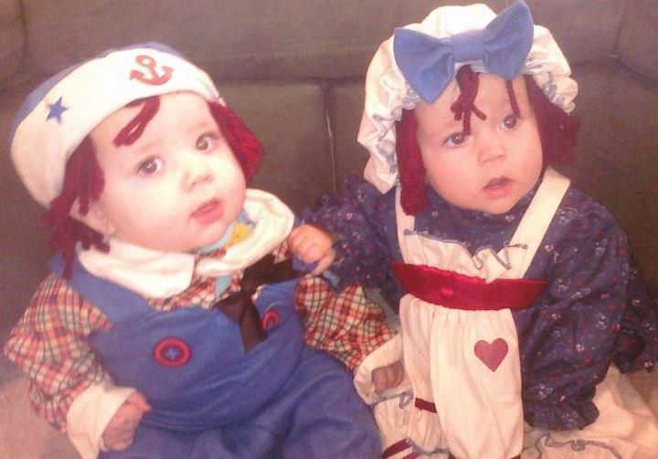 Halloween Costume ideas for Twins and Triplets Triplets, Raggedy - twin boy halloween costume ideas