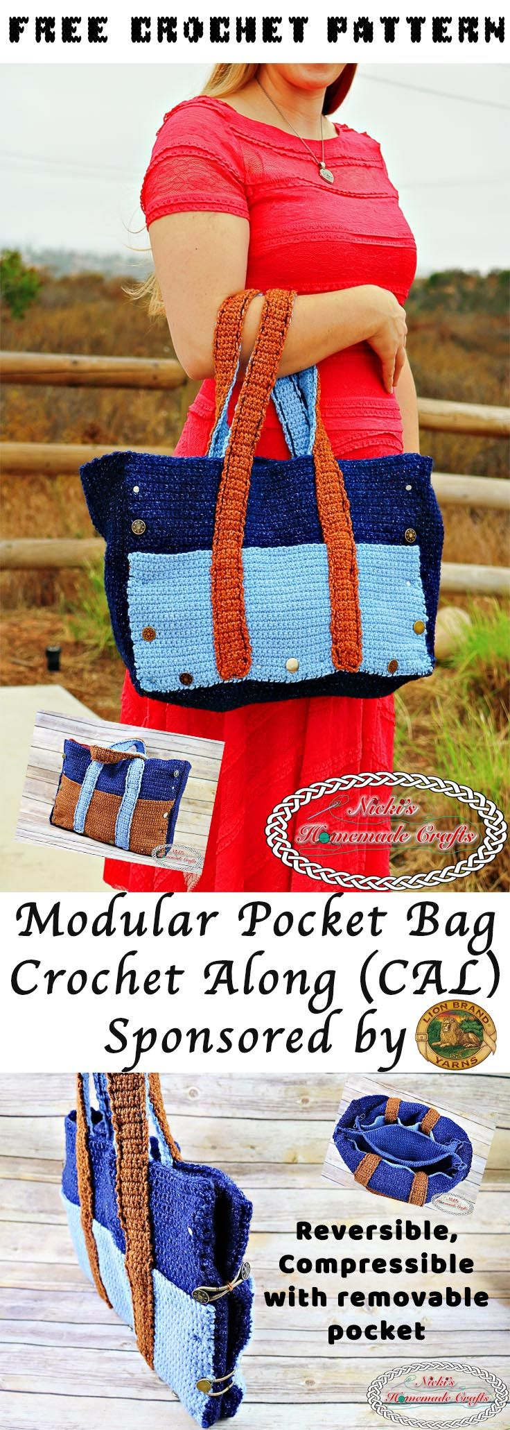 The Modular Pocket Bag Crochet Along (CAL) - Part 1 | Patrones ...